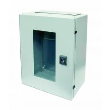 Корпус ST с прозрачной дверью и с М/П Размер: 400 x 300 x 200 мм (В х Ш х Г)