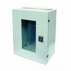 Корпус ST с прозрачной дверью и с М/П Размер: 1000 x 600 x 300 мм (В х Ш х Г)