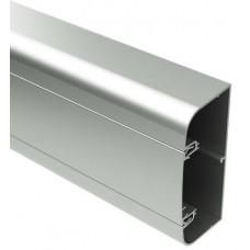Алюминиевый кабель-канал 110х50 мм (с 1 крышкой), цвет серебристый металлик