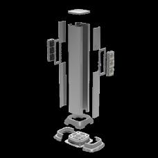 Алюминиевая колонна 0,71 м, цвет светло-серебристый металлик