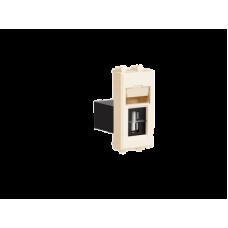 "USB 2.0 розетка модульная, тип А-А, ""Avanti"", ""Ванильная дымка"", 1 модуль"