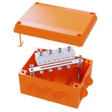 Коробка пластиковая FS с кабельными вводами и клеммниками,IP55,100х100х50мм, 6р, 450V,6A, 4мм.кв