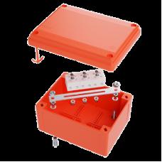 Коробка пластиковая FS с гладкими стенками и клеммниками, IP56,100х100х50мм, 5р, 450V,10A, 6мм.кв.