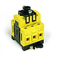 Выключатель нагрузки трёхполюсный с установкой на монтажную плату сер