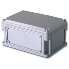 Корпус IP67,300х200х146 (выс.крышки 21),стнк.выбв.флнц.,непрозр.крыш.
