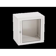 Шкаф телекоммуникационный навесной, 20 U (1000х600х400) дверь стекло,RAL7035