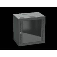 Шкаф телекоммуникационный навесной, 16 U (800х600х400) дверь стекло,RAL9005