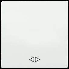 HB-1-3-ББ Накладка 1 клав. перекрест. BOLERO белый IEK