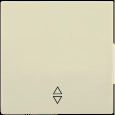 HB-1-2-БК Накладка 1 клав. проходн. BOLERO кремовый IEK