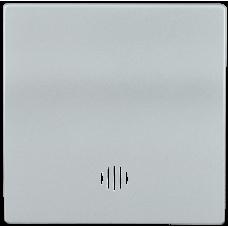 HB-1-1-БС Накладка 1 клав. с индик. BOLERO серебряный IEK