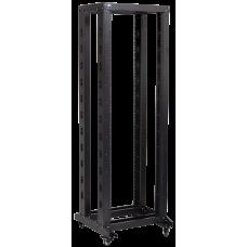"""ITK 19"""" двухрамная стойка, 32U, 600x600, на роликах, черная"""